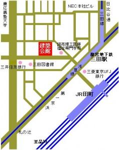 建築会館の地図
